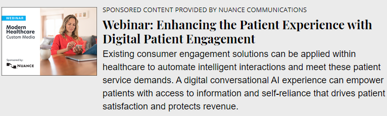 Webinar: Enhancing the Patient Experience with Digital Patient Engagement