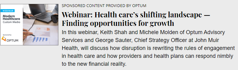 Health care's shifting landscape: Finding opportunities for growth